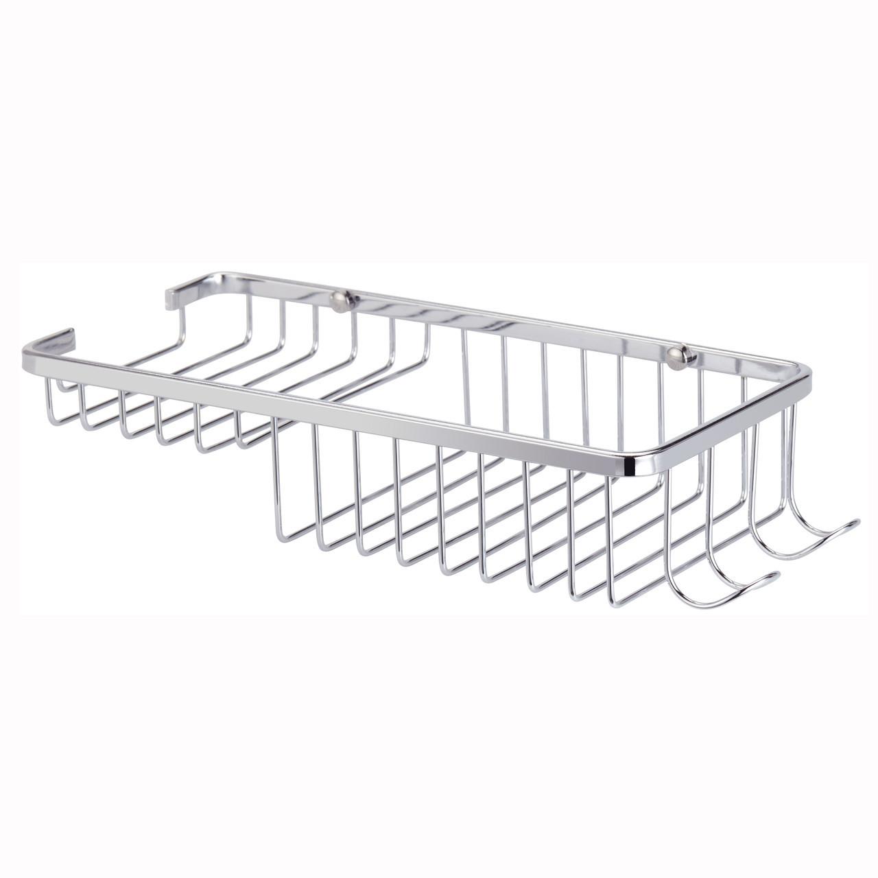 Корзинка для ванной Besser прямоугольная 26.5х11.5х5см с крючками KM-8505