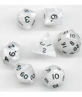 Набор кубиков Перламутр d00, d4, d6, d8, d10, d12, d20 (белый)  (Dice Set Pearl White)