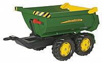 Причіп на 4х колесах Rolly Toys rollyHalfpipe John Deere зелено-жовтий