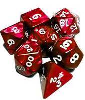 Набор кубиков Перламутр d00, d4, d6, d8, d10, d12, d20 (красный)  (Dice Set Pearl Red)