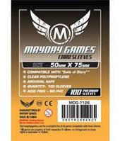 Протекторы (кармашки) Mayday (50 мм х 75 мм)  (Card sleeves (50 мм х 75 мм))