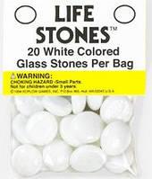 """Стеклянные каунтеры """"Камни жизни"""" (опал)  (Life Stones (white))"""