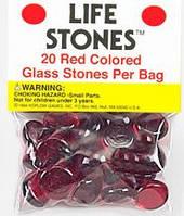 """Стеклянные каунтеры """"Камни жизни"""" (рубин)  (Life Stones (red))"""