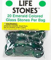 """Стеклянные каунтеры """"Камни жизни"""" (изумруд)  (Life Stones (emerald))"""
