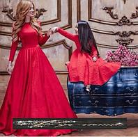 Эксклюзивный набор мама и дочка платья пышные