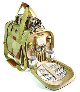 Набор для пикника на 4 персоны Time Eco Premium Picnic в комплекте с изотермической сумкой 30л