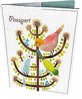 Милая кожаная обложка для паспорта СБОР 01-01-268  Девайс Мейкер