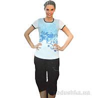 Женский домашний костюм Sabrina 51430 синий 4XL
