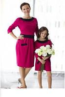 Комплект платьев для мамы и дочки