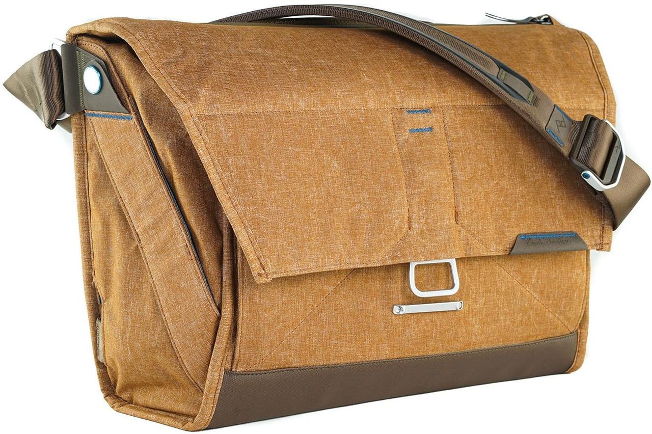 """Сумка для фото и ноутбука 15"""" Peak Design The Everyday Messenger BS-BR-1 коричневая"""