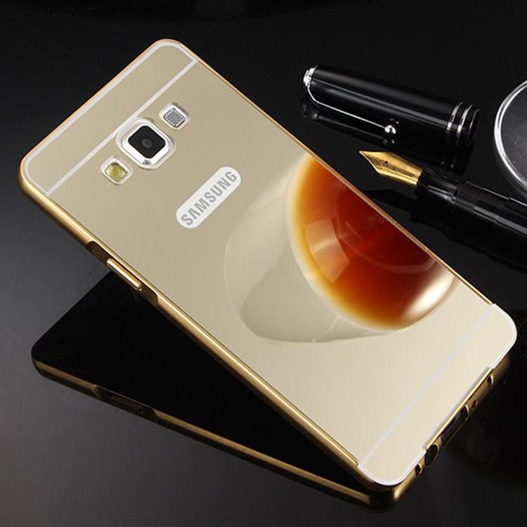 Чехол для Galaxy A7 2015 / Samsung A700 зеркальный золотистый