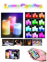 """Пластиковые Led Свечи """"Color Changing Luma Candles"""" с пультом на батарейках., фото 1"""