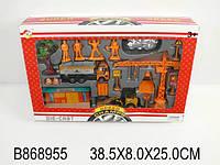 Строительный набор - метал. транспорт, знаки, фигурки в коробке (24 шт/ящ