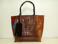 Кожаная сумка Balina «Балина» с кошельком коричневая