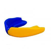Капа боксерская 3311 Blue/Yellow SR