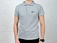 Мужское поло найк (Nike), серый