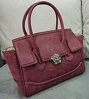 Женская модная сумочка Versace бордовая Версаче