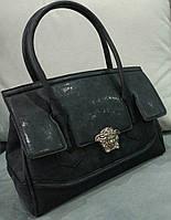 Женская модная сумочка Versace черная Версаче
