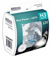 "Автомобильные галогенные лампы ""Brevia"" (H3)(Max Power)(+100%)(3900K)(12V)(55W), фото 1"