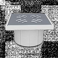 Надставка с решеткой из нержавеющей стали 150х150 мм