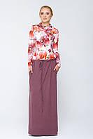 Длинное платье с карманами Имма цветное