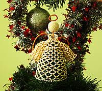 """Игрушка на верхушку елки """"Ангелок"""" ручной работы из бисера (новогодняя игрушка, елочная игрушка, подарок)"""