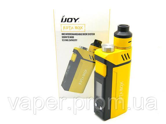 Набор бокс МОД IJOY RDTA Box 200 W, 12,8 мл, желтый, фото 2