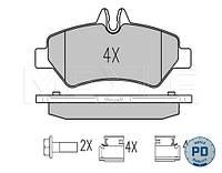 Колодки тормозные (задние) MB Sprinter 209-319 06-