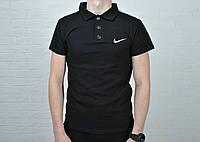 Футболка поло найк (Nike), черная мужская