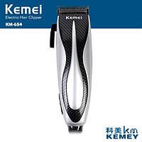 Машинка для стрижки Kemei 654, сам себе парикмахер, 4 насадки, набор в комплекте, защита от повреждений