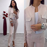 Костюм женский (брюки + пиджак), фото 1