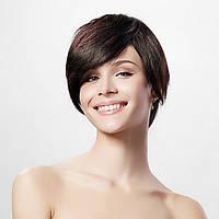 Парик из натуральных волос короткая стрижка с косой челкой