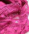 Женский шарфик с ажурным краем 200 на 85 dress РС3316_фуксия, фото 3