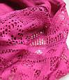 Жіночий шарфик з ажурним краєм 200 на 85 dress РС3316_фуксия, фото 3