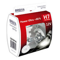 "Автомобильные галогенные лампы ""Brevia"" (H7)(Power Ultra)(+60%)(3500К)(12V)(55W), фото 1"