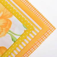 Ткань для пэчворка набор 5 шт Солнечный (желтый)
