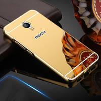 Чехол для Meizu M3 Note зеркальный золотистый