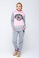Теплый женский спортивный костюм Кантара розовый