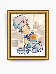 Авторская канва для вышивки бисером «Веселый поваренок»