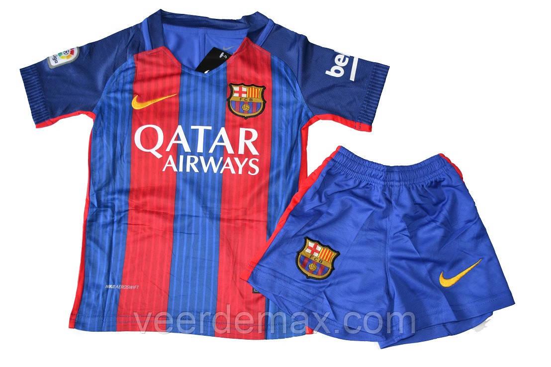 4152a2f8f567 Детская футбольная форма Барселона Суарез (Suarez) 2016-2017 домашняя -  Veer Demax в