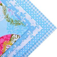 Ткань для пэчворка набор 5 шт Париж (голубой)