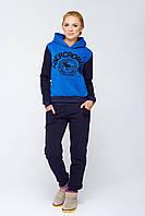 Теплый женский спортивный костюм Кантара синий