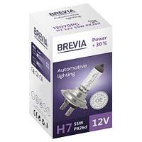 """Автомобильная галогенная лампа """"Brevia"""" (H7)(Power)(+30%)(3000K)(12V)(55W), фото 1"""