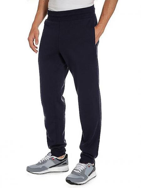 ЗИМНИЕ спортивные брюки мужские утепленные трикотажные темно синие на резинке внизу (манжет) Украина