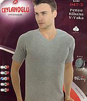 Мужская турецкая футболка  Seylanoglu 100%хлопок