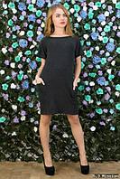 Платье-туника из вискозы черного цвета, размера 42-44, 46-48.