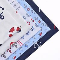 Ткань для пэчворка набор 5 шт Морской