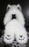 Шапка,spirithood, зверошапка, волкошапка, модный аксессуар, шапка с ушками , Модель Снежный Барс