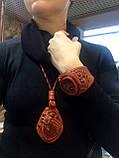Набор браслет и кулон с яшмой. Натуральная кожа., фото 3