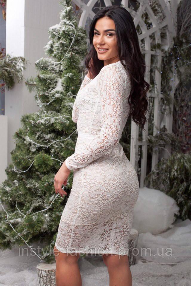 9f3d4ce1dd0 Коктейльное платье ткань турецкий гипюр на трикотажной подкладке белое